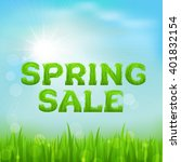 spring sale inscription made of ... | Shutterstock .eps vector #401832154