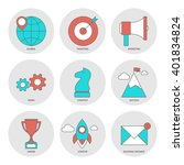 start up outline icons flat | Shutterstock .eps vector #401834824