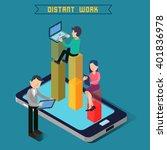 modern technology. isometric... | Shutterstock .eps vector #401836978
