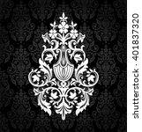 damask vintage floral seamless... | Shutterstock .eps vector #401837320