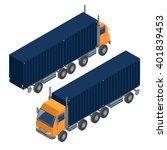cargo transportation. isometric ... | Shutterstock .eps vector #401839453