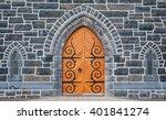Wooden Church Door And Stone...