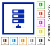 set of color square framed data ...