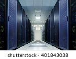 server room with modern... | Shutterstock . vector #401843038