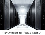 server room with modern... | Shutterstock . vector #401843050