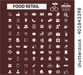 food retail icons  | Shutterstock .eps vector #401843398