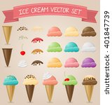 ice cream vector set | Shutterstock .eps vector #401847739
