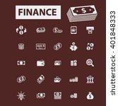 finance icons  | Shutterstock .eps vector #401848333