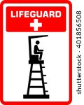 lifeguard tower. life. guard.... | Shutterstock .eps vector #401856508