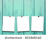 close up of three square blank... | Shutterstock . vector #401868160