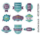 set of retro labels and banners ... | Shutterstock .eps vector #401870284