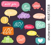 trendy speech bubbles set in... | Shutterstock .eps vector #401872318
