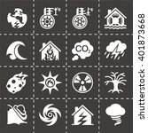 vector disaster icon set | Shutterstock .eps vector #401873668