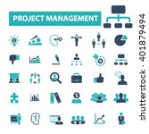 project management icons  | Shutterstock .eps vector #401879494