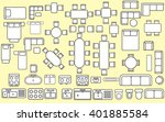 furniture in top view | Shutterstock .eps vector #401885584