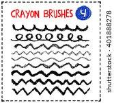 crayon brushes set. hand... | Shutterstock .eps vector #401888278