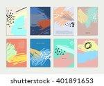 set of hand drawn universal... | Shutterstock .eps vector #401891653