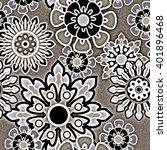 art vintage stylized geometric... | Shutterstock . vector #401896468