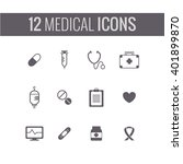 medical icons  vector... | Shutterstock .eps vector #401899870