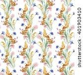 grass  flower of meadow ... | Shutterstock . vector #401903410