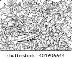 coloring page with lots of... | Shutterstock .eps vector #401906644