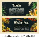 mexican traditional food... | Shutterstock .eps vector #401907460