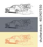 drifting car | Shutterstock .eps vector #401907550