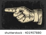 pointing finger.  vector... | Shutterstock .eps vector #401907880
