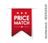 price match red ribbon vector | Shutterstock .eps vector #401910319