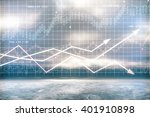 digital chart with arrows and... | Shutterstock . vector #401910898