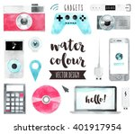 premium quality watercolor... | Shutterstock .eps vector #401917954