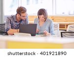 male and female business...   Shutterstock . vector #401921890