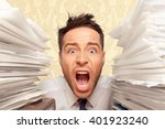 emotional stress. | Shutterstock . vector #401923240