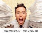 emotional stress. | Shutterstock . vector #401923240