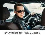 fashionable handsome man in... | Shutterstock . vector #401925058