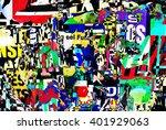 digital urban collage... | Shutterstock . vector #401929063