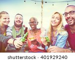 friends friendship leisure... | Shutterstock . vector #401929240
