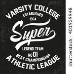 vintage typography set  t shirt ... | Shutterstock .eps vector #401929948