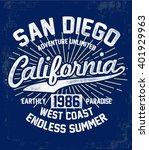 california typography for t...   Shutterstock .eps vector #401929963