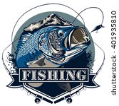 bass fish. perch fishing vector ... | Shutterstock .eps vector #401935810