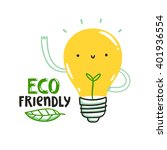 eco friendly bulb illustration  ... | Shutterstock .eps vector #401936554