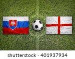 slovakia vs. england flags on...   Shutterstock . vector #401937934