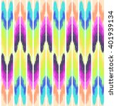 colorful ikat print   seamless... | Shutterstock .eps vector #401939134