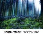 blue magic fairytale forest... | Shutterstock . vector #401940400