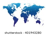world map vector | Shutterstock .eps vector #401943280