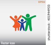 happy family icon in simple... | Shutterstock .eps vector #401944933