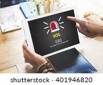 sos emergency rescuce risk... | Shutterstock . vector #401946820