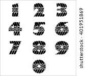 black numbers silhouette in... | Shutterstock .eps vector #401951869
