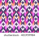 geometric black and pink ikat... | Shutterstock .eps vector #401959984