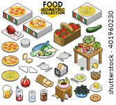 food collection  including... | Shutterstock .eps vector #401960230